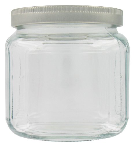 Anchor Hocking 85786RL 16 Oz Cracker Jar With Brushed Aluminum Lid