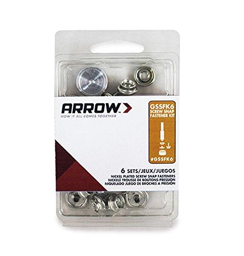 Arrow Fasteners GSSFK6 Screw Snap Fastener Kit (Set of 6) - Refill Kit Grommet