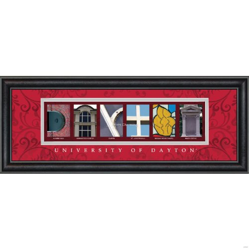 Prints Charming Letter Art Framed Print, U of Dayton-Dayton, Bold Color - Dayton Mall The
