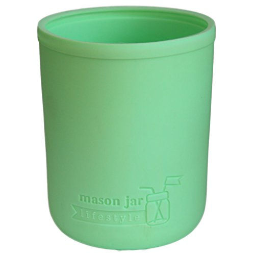 MJL Wide Mouth Pint Silicone Sleeve for Mason Jars (Mint Green, 2 Pack)