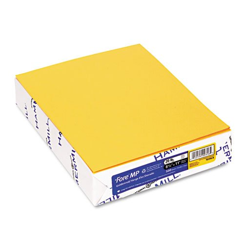 Hammermill® - Fore MP Recycled Colored Paper, 20lb, 8-1/2 x 11, Goldenrod, 500/Ream - Sold As 1 Ream - Great for color-coding office documents or adding pizzazz to flyers and other (Hammermill Recycled Paper)