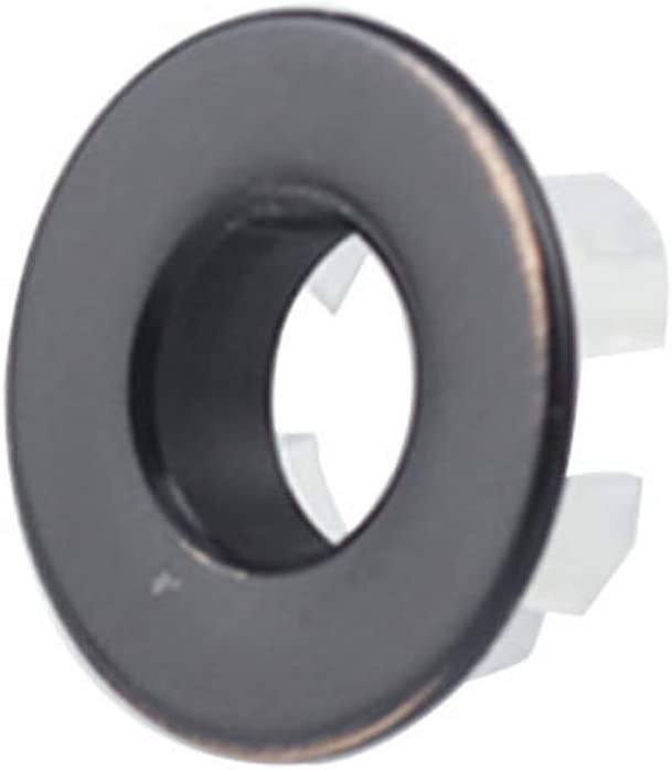 FayOK Electroplated Plastic Design Bathroom Washbasin Sink Overflow Ring