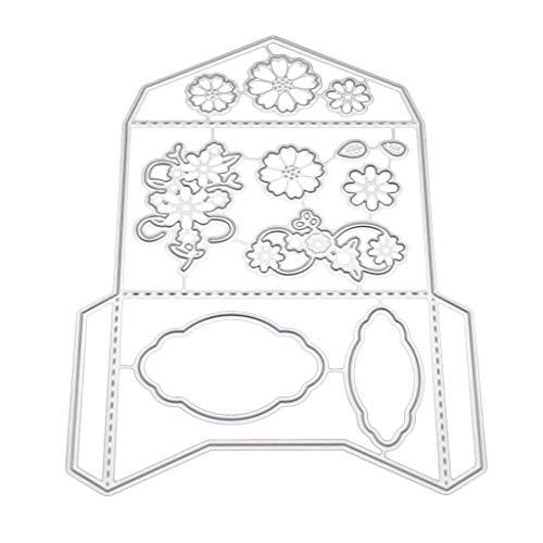 Danyerst Invitation Envelope Metal Cutting Dies Stencil DIY Scrapbooking Album Stamp Paper Card Embossing Crafts Decor]()