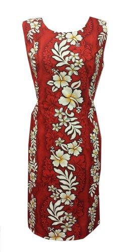 Inc Serbatoio Breve Red Jade Cotton Fashions Hibiscus Rosso Red Hawaiano Inc Donne Giada Tank Dress Hawaiian Short Mode Rosso Cotone Vestito Ibisco Women ZwIHwf