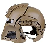 Simways Cosplay Airsoft Full Face Head Helmet