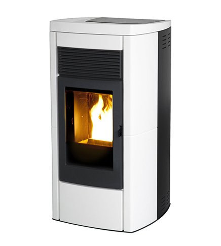 estufa de pellets MCZ Star Air de 8 KW estructura de acero, Color blanco: Amazon.es: Hogar