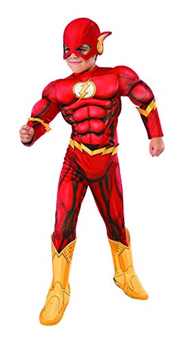 Superheroes And Villain Costumes (Rubie's Costume DC Superheroes Flash Deluxe Child Costume,)