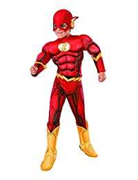 Rubies Costume DC Superheroes Flash Deluxe Child Costume, Small