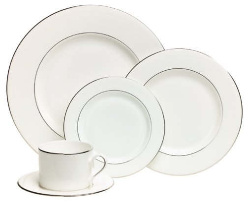 Lenox Tribeca Platinum-Banded Bone China 5-Piece Place Setting, Service for 1 Review