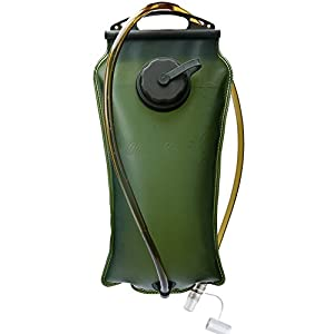 Baen Sendi Hydration Bladder 3 Liter/100 oz - Water Storage Bladder Bag, Water Reservoir Pack for Hydration Pack System, Best for Cycling, Climbing, Hiking (ArmyGreen,100 oz)