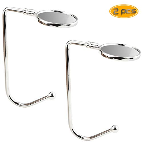 BeautyMood 2PCS Christmas Stocking Holders, Mantel Hooks Hanger Non-Skid Design Christmas Safety Hang Grip Stockings Clip for Party Decoration (Silver) (Hanger Silver Stocking)
