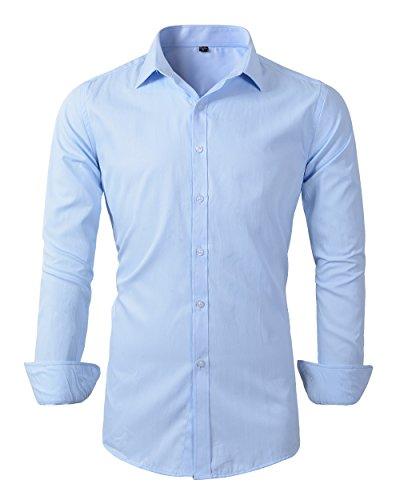 light blue dress shirt slim fit - 8