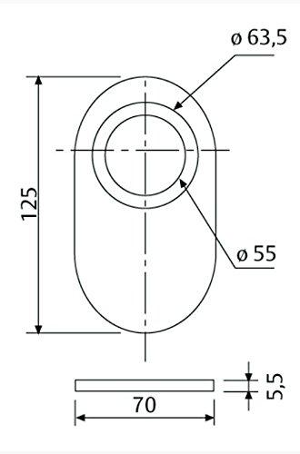 Tesa Assa Abloy EMB700 Complemento embellecedor Acabado Acero esmaltado