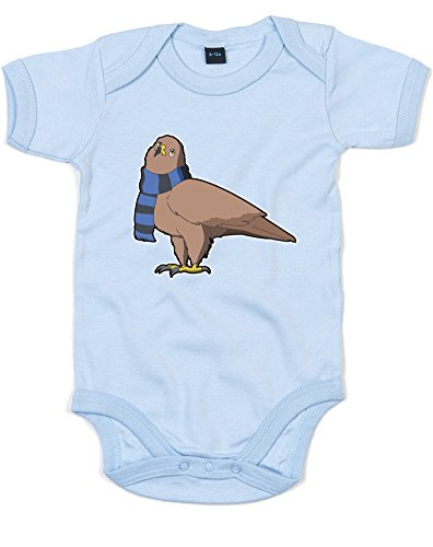 [House Mascot: Eagle, Printed Baby Grow - Dusty Blue/Transfer 6-12 Months] (Ravenclaw Mascot)