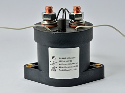 200A 9V-36V DC Coil SPST Single Pole Single Throw EV Contactor, USA Stock, NEW! (36v Coil)