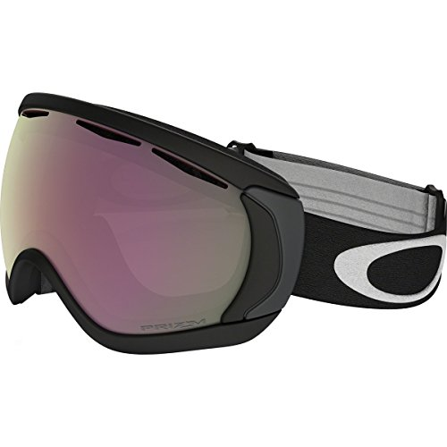 Oakley Men's Canopy Snow Goggles, Matte Black, Prizm Hi Pink, - Goggle Oakley Lens