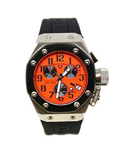 - Swiss Legend Men's 10541-06-BB Trimix Diver Collection Chronograph Black Rubber Watch