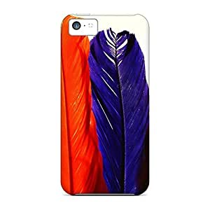 Brand New 5c Defender Case For Iphone (colorful Feathers)