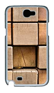 Wooden Blocks Polycarbonate Hard Case Cover For Samsung Galaxy Note 2/ Note II / N7100 - White