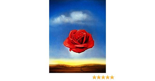 offset lithograph Salvador Dali exhibition poster Meditative Rose excellent museum print