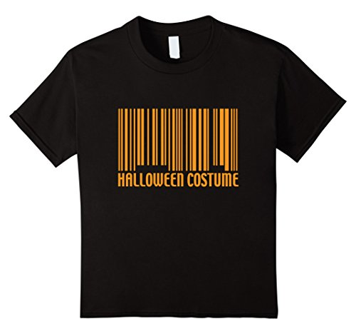 Kids Funny Generic Halloween Costume Barcode T-Shirt 6 Black