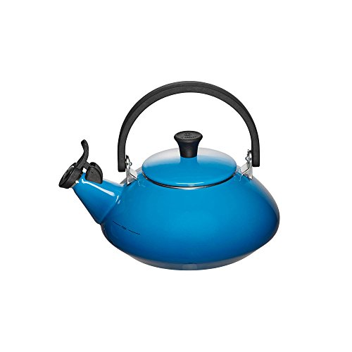 Le Creuset Enameled Steel 1-2/3-Quart Zen Tea Kettle, Marsei
