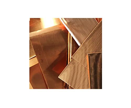 Copper Sheet Metal Scraps - 1lb Package of Various Size Copper Flat Pieces - 16 Oz Lead-Free Copper - 99.9% Pure Copper Sheet Metal - 24 Gauge Copper (Copper Large Sheets)
