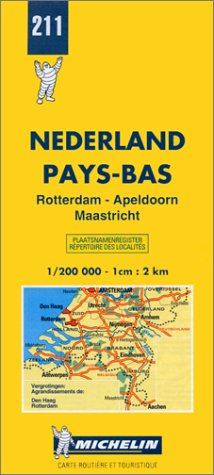 Michelin Rotterdam/Apeldoorn/Maastricht, Netherlands Map No. 211 (Michelin Maps & Atlases)
