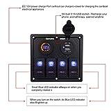 4/6/8 Gang 12V Rocker Switch Panel for RV Marine