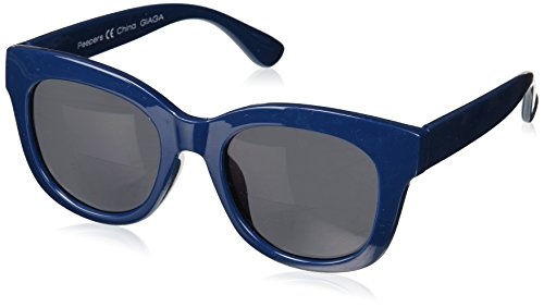 Peepers Women's Center Stage Bifocal Square Sunglasses, Navy, 2.5 2.5