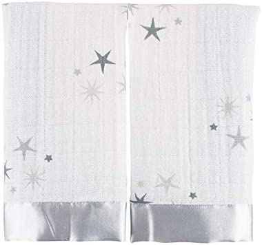 anais issie security blankets 100/% cotton muslin birdsong 2-pack aden