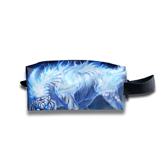 Clash Durable Zipper Wallet Makeup Handbag With Wrist Band Ice Snow Tiger Toiletry Bag -