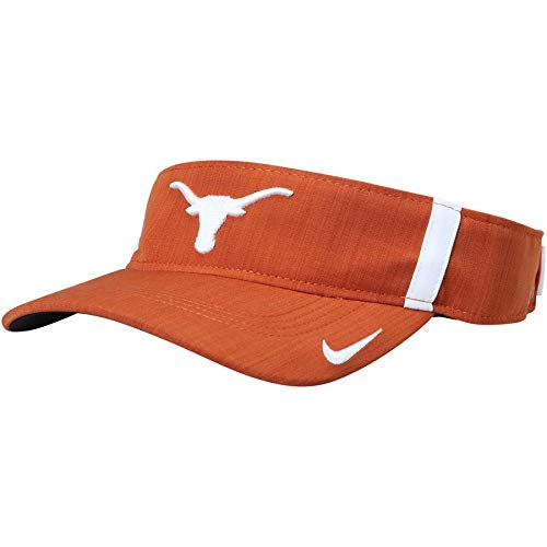 - NIKE Texas Longhorns Orange Swoosh Adjustable Visor