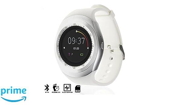 DAM TEKKIWEAR. SMARTWATCH Bluetooth con Pantalla Circular, SIM Y Micro SD.4,5x6x6,5 cm. Color: Blanco: Amazon.es: Electrónica