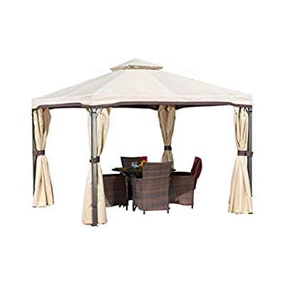 Title: Sonoma Gazebo Canopy, Outdoor Furniture Tent with Shade Curtains for Patio or Deck