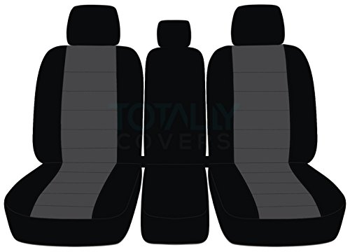 Designcovers 2011-2014 Ford F-150 Two-Tone Truck Seat Covers (Front 40/20/40 Split Bench)...