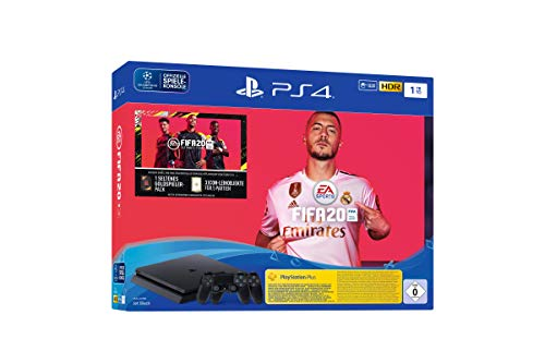 Sony PlayStation 4 1TB Console (Black) with FIFA 20 Bundle and Extra Controller – UAE Version