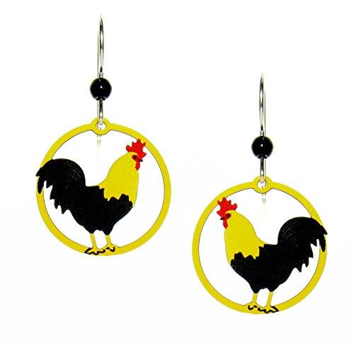 Rooster earrings by Sienna Sky