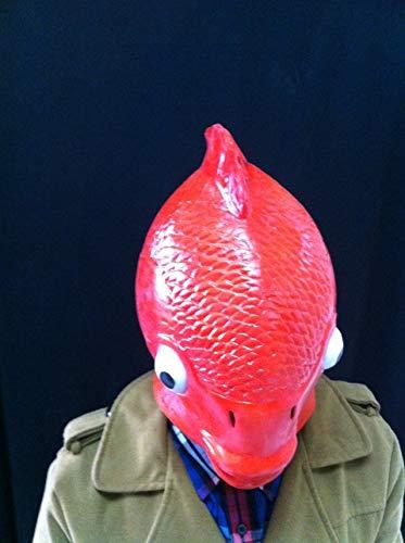 Máscara de pez dorado de Halloween, cubierta de cabeza de calamar ...