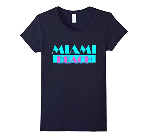 Womens Miami Beach Florida Tshirt I Love Miami Vintage Paradise Small - Women Miami Beach
