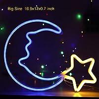Moon Neon Night Lights Star Neon Night Sign for Kids