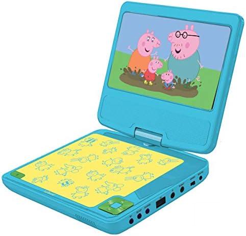 Lexibook dvdp6pp Peppa Pig Tragbarer DVD Player mit KFZ-Adapter und Fernbedienung