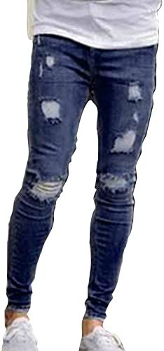 Hombre Vaqueros Largo Fashion Straight Fit Cremallera Casual Jeans Rotos Moda Cintura Media Slim Fit Denim Pantalones Amazon Es Ropa Y Accesorios