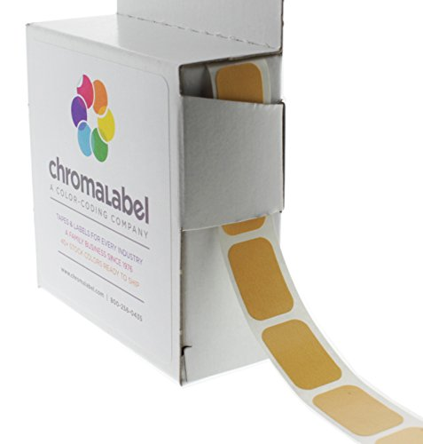 "1/2"" x 3/4"" Tan Square Color-Coding Stickers 