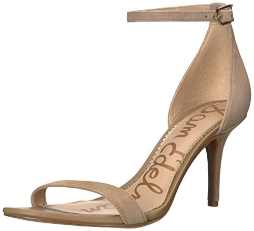 Sam Edelman Women's Patti Heeled Sandal, Oatmeal Suede, 8.5 W US ()