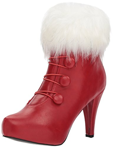 Ellie Shoes Women's 414-Claus Boot, Red, 8 US/8 M (Mrs Claus Shoes)