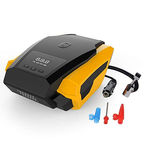 Oneuda Portable Air Compressor Pump by Oneuda, Auto Digital Tire Inflator, 12V 120W 150PSI Tire Pump with Larger Air Flow 40L/Min for Car, Truck, Bicycle and Other Inflatables (Best Tires For Your Car)