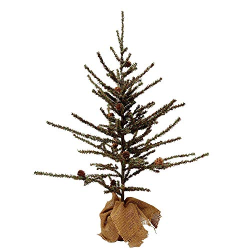 VGIA Small Home Decoration Tabletop 28'' Christmas Tree with Wood Stand, Green by VGIA (Image #1)