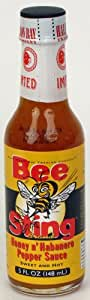 Bee Sting Honey N' Habanero Hot Sauce, 5 fl oz