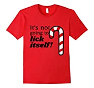 Christmas Adult Funny Candy Cane Lick T-Shirt Humor